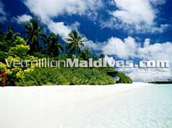 Crystal clear lagoon for your Maldives vacation