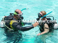 Diving and snorkeling on the Waters of Maldives Beach Resort Hotel