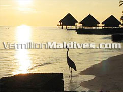 Beautiful Sunset on Water Villas at Rannalhi Maldives Resort