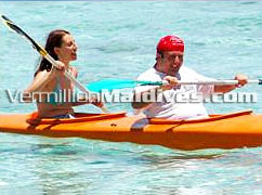 Canoeing at Rannaalhi Maldives. Offer Holiday activities like Water Sports