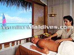 Spa Treatment Room at Rannalhi. A Spa Resort Hotel in Maldives