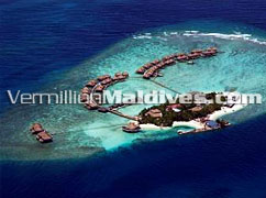 Aerial Picture of Adaaran Prestige Water Villas Maldives Vaadhoo