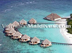 Prestige Water Villas at Raa Atoll on the Island of  Meedhupparu
