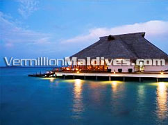 Restaurant at Night: Reserve a Holiday in Maldves Adaaran WaterVillas