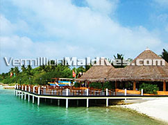 Beautiful Beach of the Island Huduranfushi Hotel Maldives