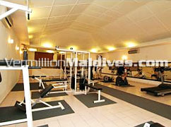 Gymnasium at Hudhuranfushi Island Maldives