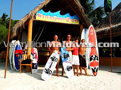 Maldives Hudhuranfushi is good for Surfing & Windsurfing
