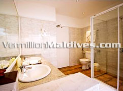 Adaaran Select Meedhupparu. Interior Bathroom at Resort
