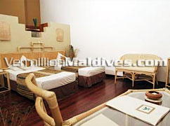 Interior Ayurvedic Villas at Adaaran Select Meedhupparu Maldives Spa Resort