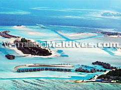 Aerial Picture of Anantara Maldives Luxury Resorts. Dhigu Veli & Naladhu.