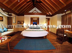 Beach Front Villas Bedrooms Accomodation. Anantaara Dhigu Maldives