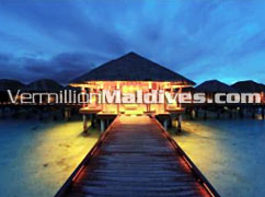 Beautiful luxury resort Anantara Dhigu Maldives. A Spa resort Hotel.