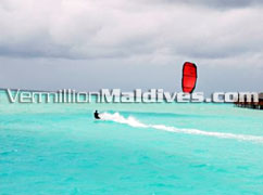 Go Kite Boarding. Anantara Dhigu Maldives. A Leisure Resort with beauty.