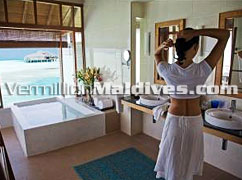 Deluxe Over Water Bungalow Bathroom – Book Now, Online