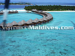 Water Bungalows of Angaga Maldives Beach Resort Hotel