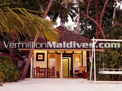 Beachfront Villa  Exterior View at Angsana Maldives. Luxury Accommodations