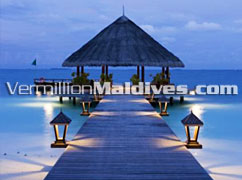 Jetty at Angsana Ihuru Maldives. A beautiful five star resort