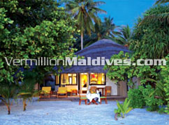 Beachfront Villa accomodation at Maldives Angsana Velavaru