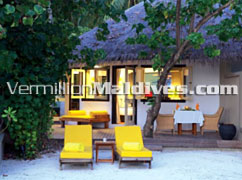 Beachfront Villa at Angsana Velavaru Maldives. A 5 star Hotel