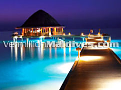 Angsana Velaavaru. Dawn at Breakfast Deck.  Its Unique