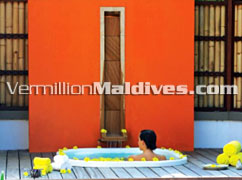 Couple Massage during holiday. A luxury Spa Resort Hotel