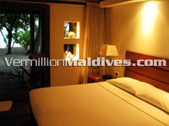 Accommodation Bedroom –Maldives Athuruga Hotel
