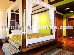 Accommodation Bedroom. Bandos Island Maldives