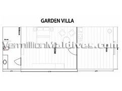 Bandos Island Resort and Spa. Garden Villa floor plan