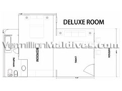 Bandos Island Resorts Deluxe Room floor plan