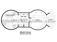 Bandos Maldives Resorts Beach Villa. Floor plan