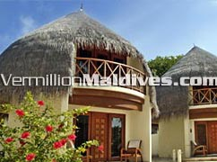 Beautiful Individual Beach Villas at Bandos Island Resort Hotel Maldives