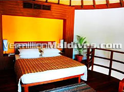 Beach Villa Bed room at the resort island of Bandos