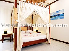 Deluxe Bedroom accommodation at Bandos Island Resort