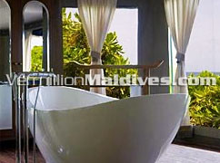 Luxury Bath Room. Standalone Tubs @ Banyan Tree Madivaru Maldives. Offers Special Deals & packages