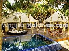 Tented Pool Villas absolutely private accommodation. Banyan Tree Madivaru – Very Best & Special for your Honeymoon
