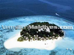 Aerial Picture of  Banyan Tree Maldives Resort Hotel Vabbinfaru