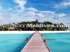 Arrival Jetty at Banyan Tree Vabbinfaru Resort Hotel Maldives