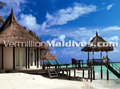 Beach Front Villa room at hotel Banyan Vabbinfaru. Simple & pleasing resort in Maldives
