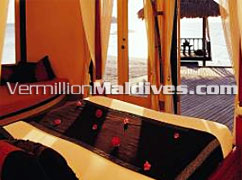 Bed Room - Banyan Tree Vabbinfaru – Maldives Luxury accommodation