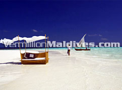 Baros A Beach Maldives Holiday place. White & crystal clear