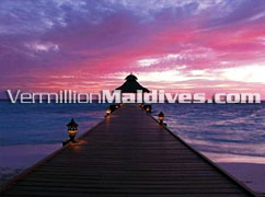 Main Jetty of the island where Baros Maldives Hotel is located