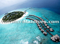 Aerial Image of Beach House, The Waldorf Astoria Collection MALDIVES