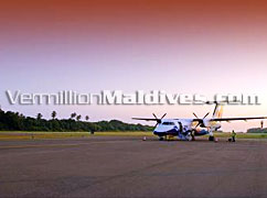 Aeroplane transfer to Beach House,The Waldorf Astoria Collection in MALDIVES