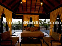 Sitting Area - Beach House,The Waldorf Astoria Collection in  Maldives – Luxury Resort