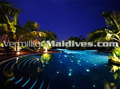 Star lit Pool – Breath taking beauty in Maldives -The Beach House, The Waldorf Astoria Collection resort in the Maldives