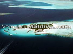 Aerial Picture of the island Bolifushi