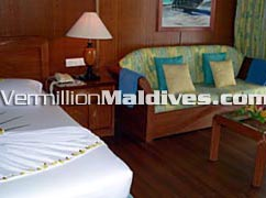Guest Rooms interior. Maldives