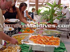 Buffet in style at Maldives