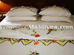 Double Beds decorated for your Honeymoon – Stay in Candies Male' Hotel for your overnight