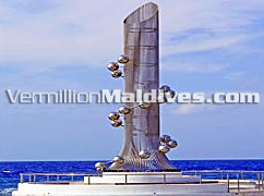 Sightseeing in Male' the capital of Maldives – Tsunami Monument
